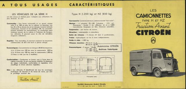 Brochure commerciale type h 1951 1